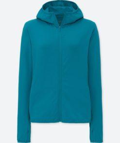 Áo chống nắng chất thun lạnh Uniqlo AiRism 2018 màu xanh biển đậm 55 Green