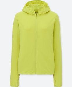 Áo chống nắng chất thun lạnh Uniqlo AiRism 2018 màu xanh chuối 52 Green