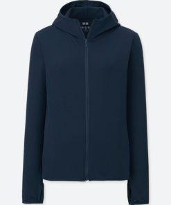 Áo chống nắng chất thun lạnh Uniqlo AiRism 2018 màu xanh đen 69 Navy