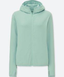 Áo chống nắng chất thun lạnh Uniqlo AiRism 2018 màu xanh ngọc 51 Green