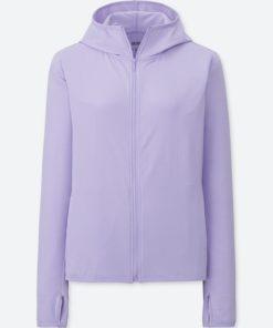Áo chống nắng chất thun lạnh Uniqlo AiRism 2018 màu xanh tím 71 Purple