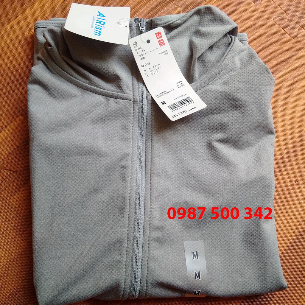 áo chống nắng thun lạnh Uniqlo 2018 màu ghi xám 03 gray