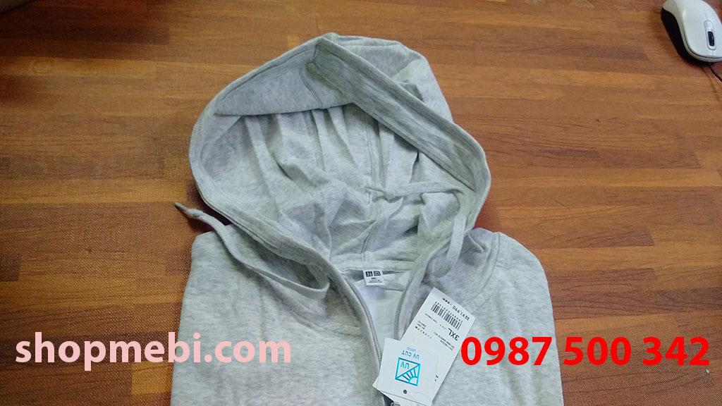 Mũ áo chống nắng cotton Uniqlo