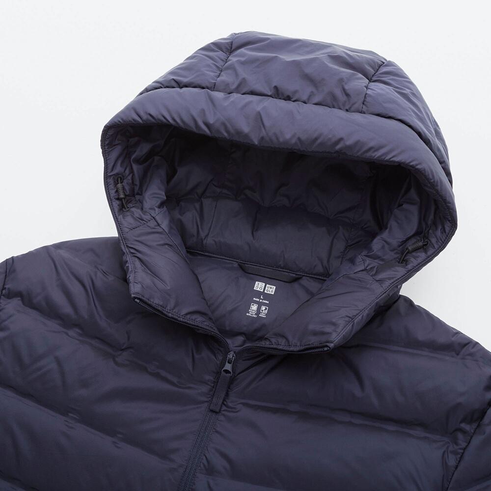 Mũ áo lông vũ nam Uniqlo màu xanh đen 69 NAVY - 409325