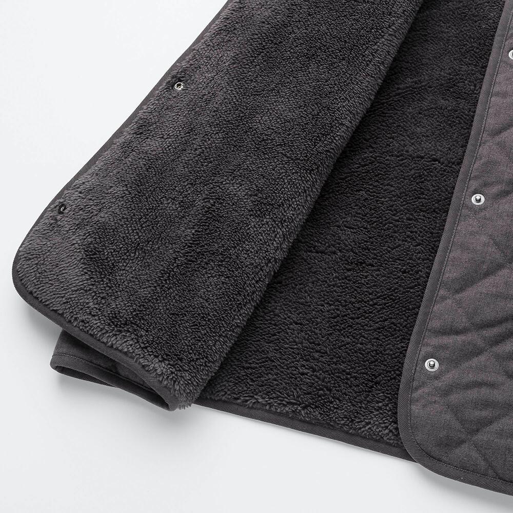 Bên trong Áo trần trám lót lông cừu dáng dài Uniqlo màu xám đậm