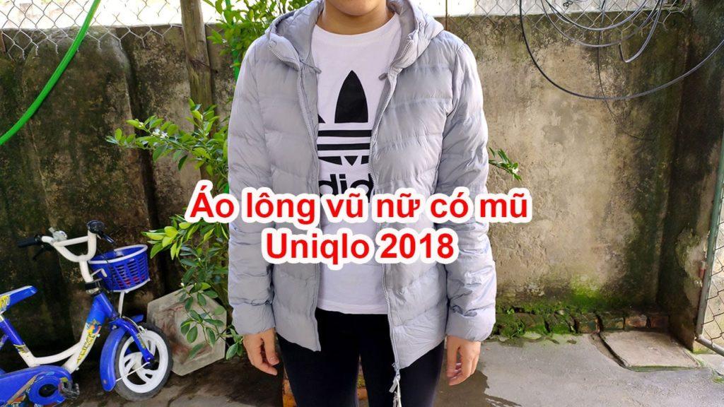 Áo lông vũ nữ có mũ Uniqlo 2018 - 409113
