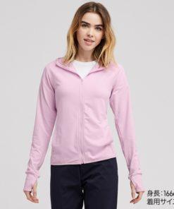Áo chống nắng Uniqlo AiRism 2019 màu hồng nhạt 10 PINK