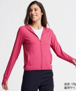 Áo chống nắng Uniqlo AiRism 2019 màu hồng đậm 12 PINK 12_413363