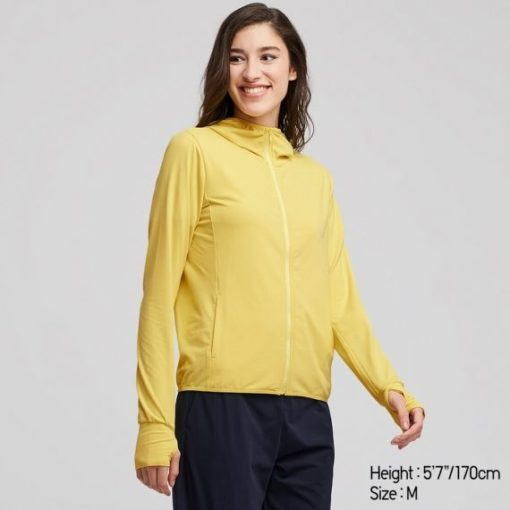 Áo chống nắng Uniqlo AiRism 2019 màu vàng 43 YELLOW