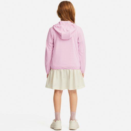 Mặt sau Áo chống nắng trẻ em Uniqlo Nhật Bản 2019 màu hồng
