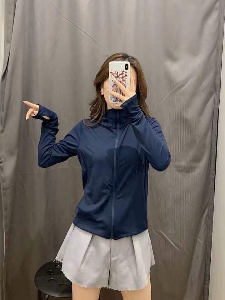 Áo chống nắng Nhật Bản Uniqlo AiRism 2019 màu xanh đen