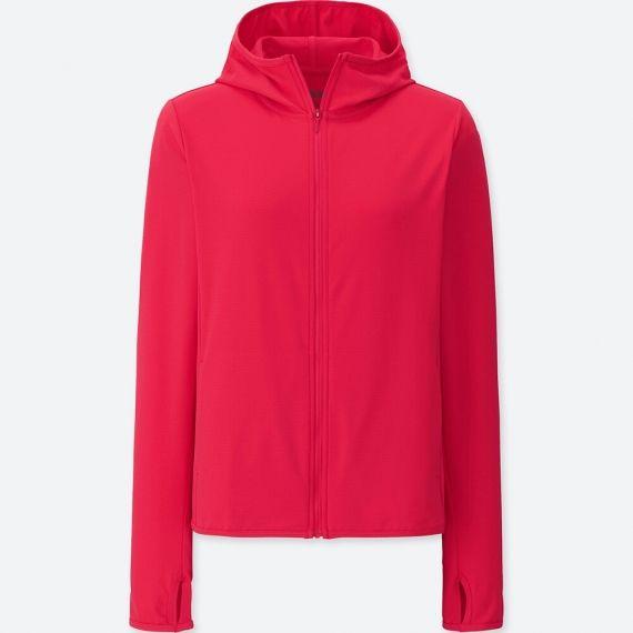 Áo chống nắng Uniqlo AiRism màu đỏ 14 RED 415374