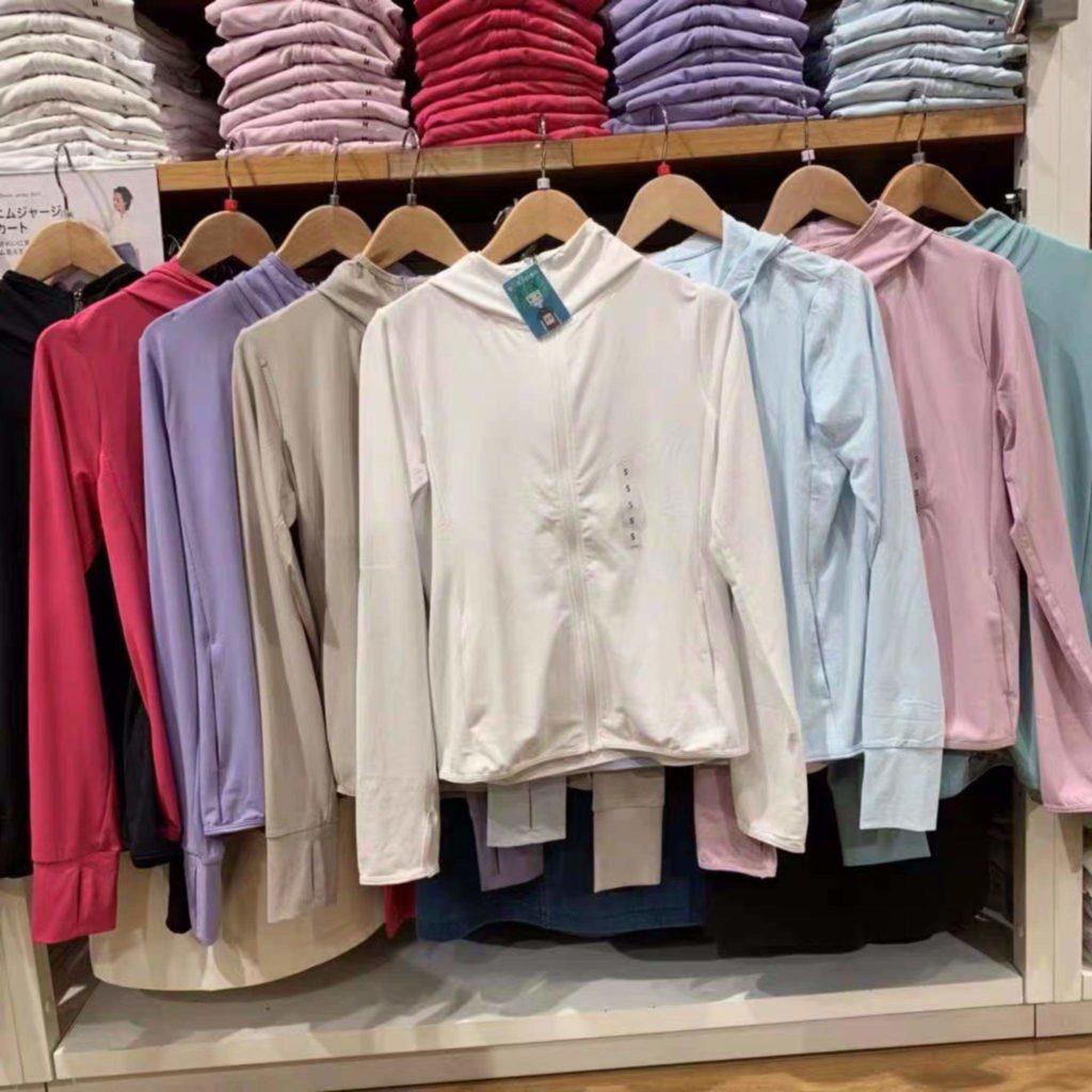 Màu thật áo chống nắng Nhật Bản Uniqlo 2019