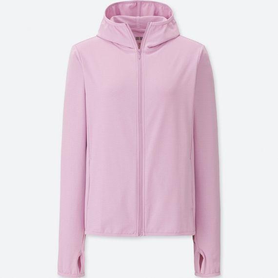 Áo chống nắng Uniqlo AiRism màu hồng nhạt 415374
