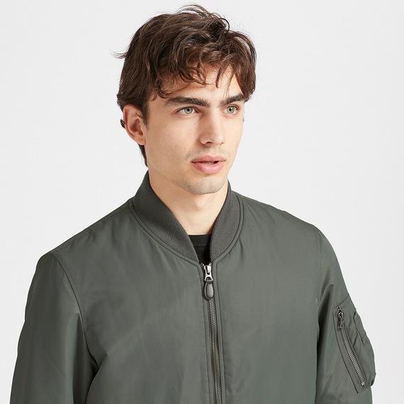 Áo khoác bomber Uniqlo 2019 màu xanh rêu 56 Olive mã 419963 mẫu mới