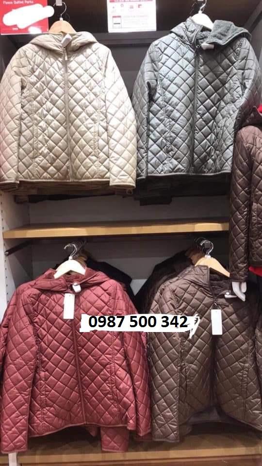 Ảnh thật áo khoác trần trám lót lông cừu Uniqlo 2019 - 2020 mã 420213