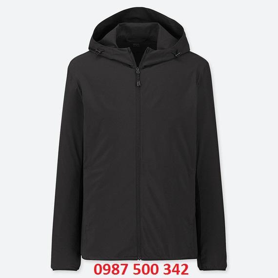Áo gió nam Uniqlo 2019 màu đen