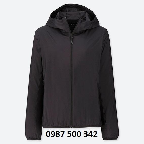 Áo gió nữ Uniqlo 2019 màu đen 09 BLACK