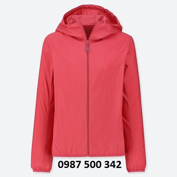 Áo gió nữ Uniqlo 2019 màu đỏ 14 RED