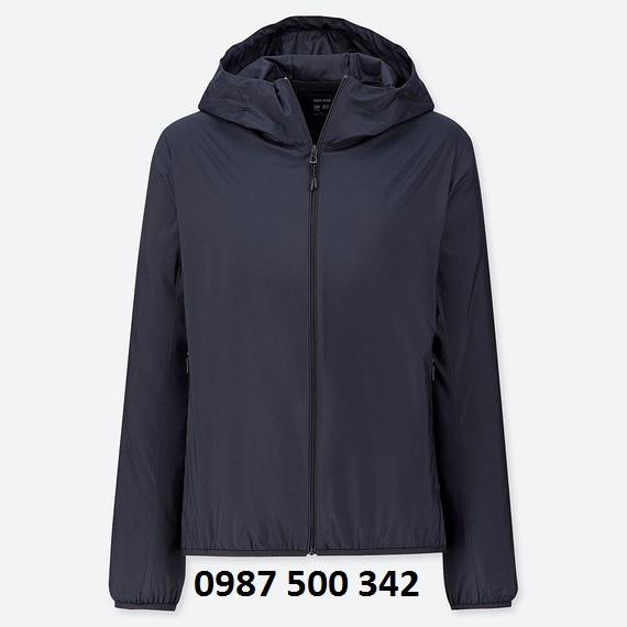 Áo gió nữ Uniqlo 2019 màu xanh đen 69 NAVY