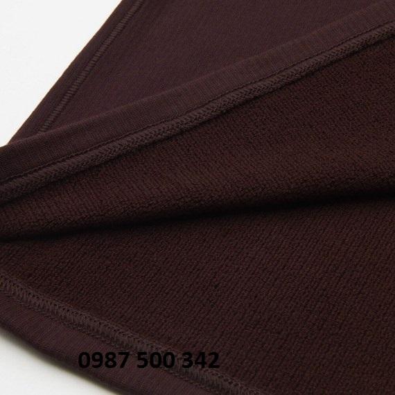 Chất vải áo giữ nhiệt nữ cổ tròn Heattech Ultra Warm