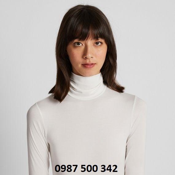 Áo cổ lọ nữ Heattech Uniqlo mặc rất ấm và lịch sự