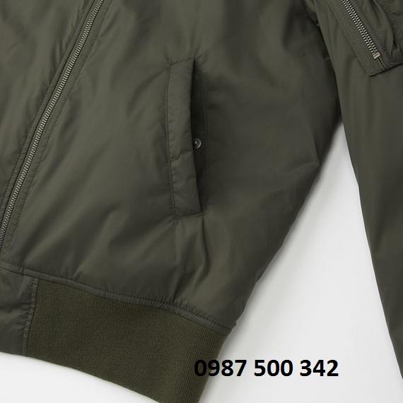 Túi áo khoác bomber Uniqlo nam