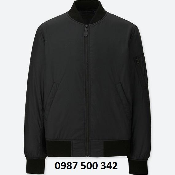 Áo khoác bomber nam Uniqlo màu đen 09 BLACK
