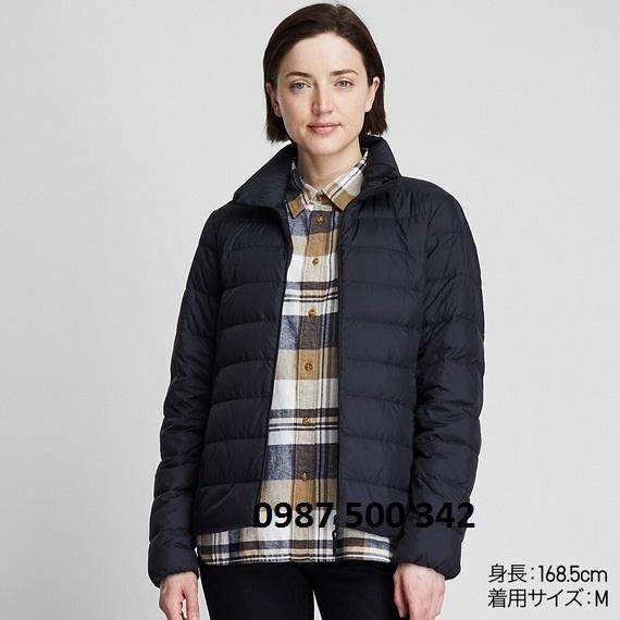 Áo lông vũ nữ không mũ Uniqlo Ultra Light Down 2019 - 2020 màu đen 09 BLACK