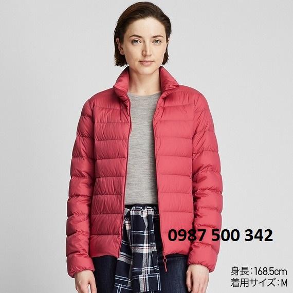 Áo lông vũ nữ không mũ Uniqlo Ultra Light Down 2019 - 2020 màu đỏ 13 RED