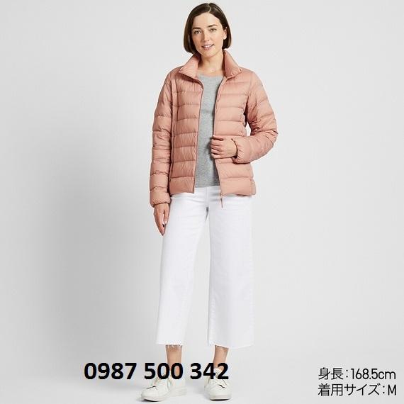 Áo lông vũ nữ không mũ Uniqlo Ultra Light Down 2019 - 2020 màu hồng nude 11 Pink