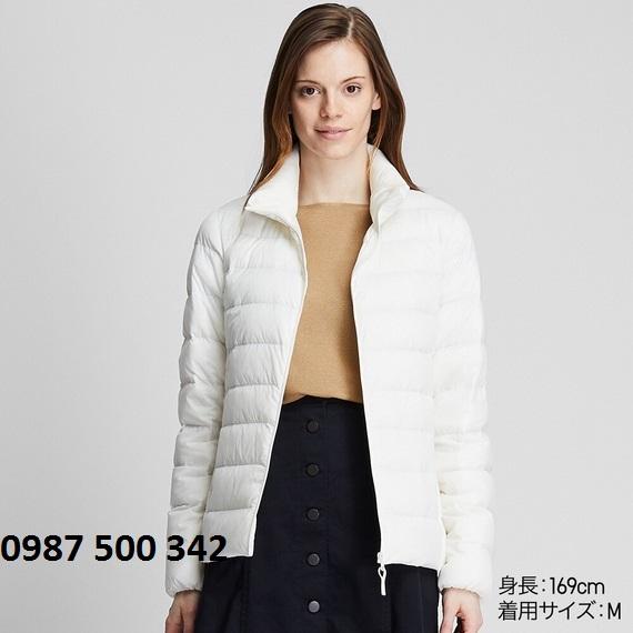 Áo lông vũ nữ không mũ Uniqlo Ultra Light Down 2019 - 2020 màu trắng 01 OFF WHITE