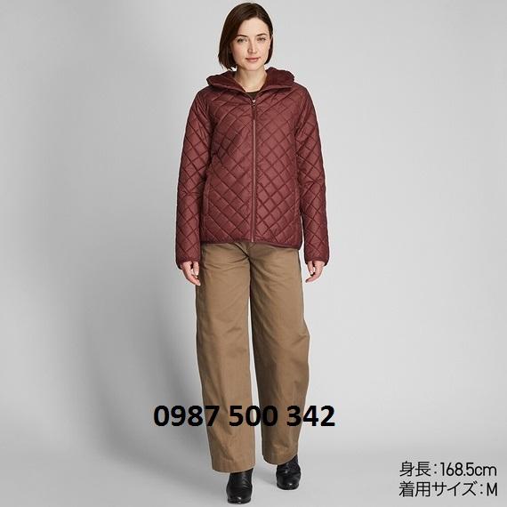 Áo trần trám lót lông cừu Uniqlo 2019 màu rượu vang