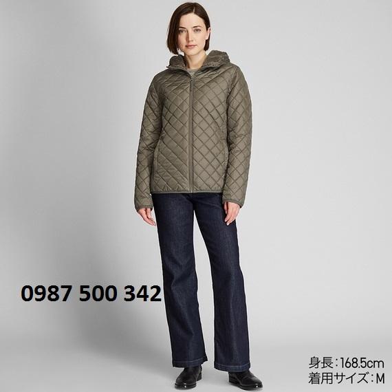 Áo trần trám lót lông cừu Uniqlo 2019 màu xanh rêu
