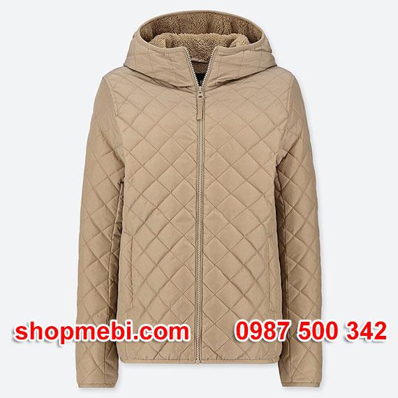 Áo khoác trần trám lót lông cừu Uniqlo 2019 - 2020 mã 420213 màu be 31 BEIGE