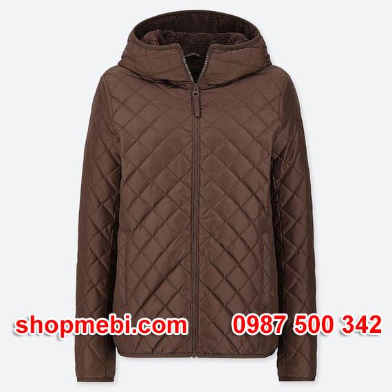 Áo khoác trần trám lót lông cừu Uniqlo 2019 - 2020 mã 420213 màu nâu 37 BROWN