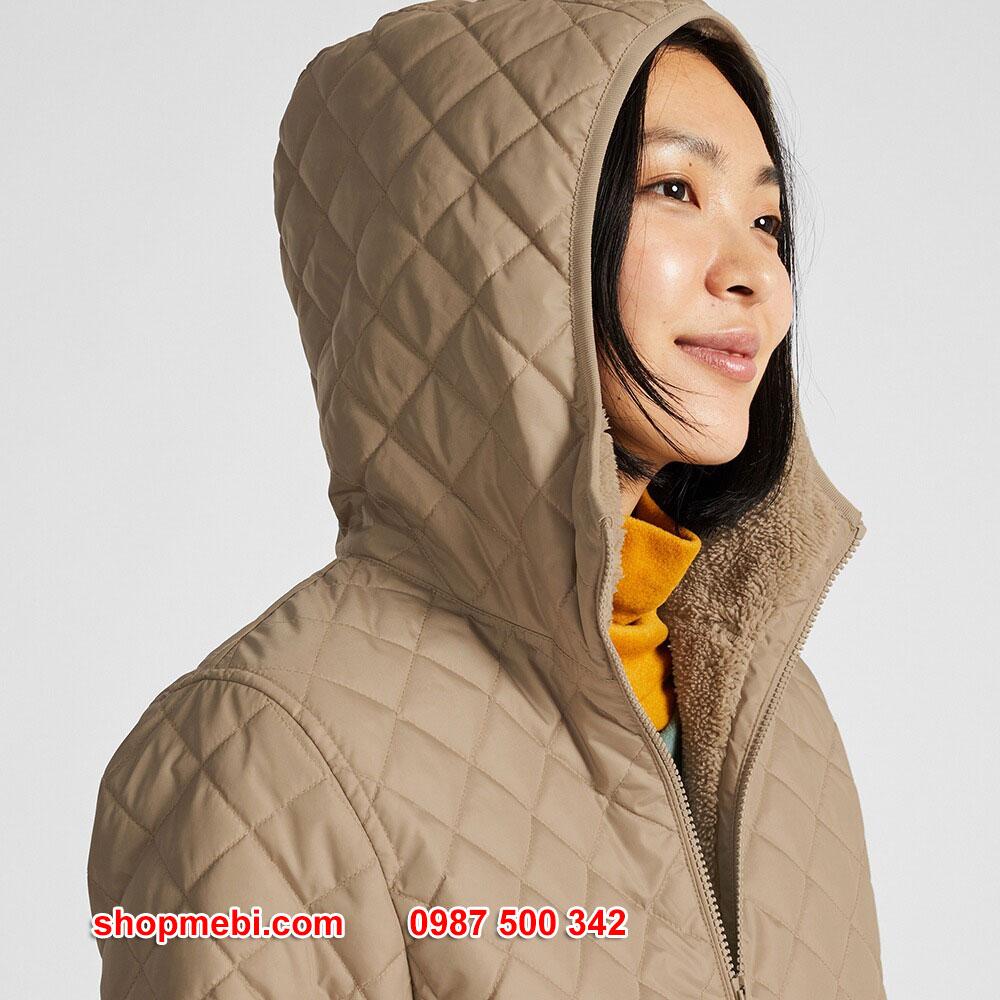 Mũ Áo khoác trần trám lót lông cừu Uniqlo 2019 - 2020 mã 420213