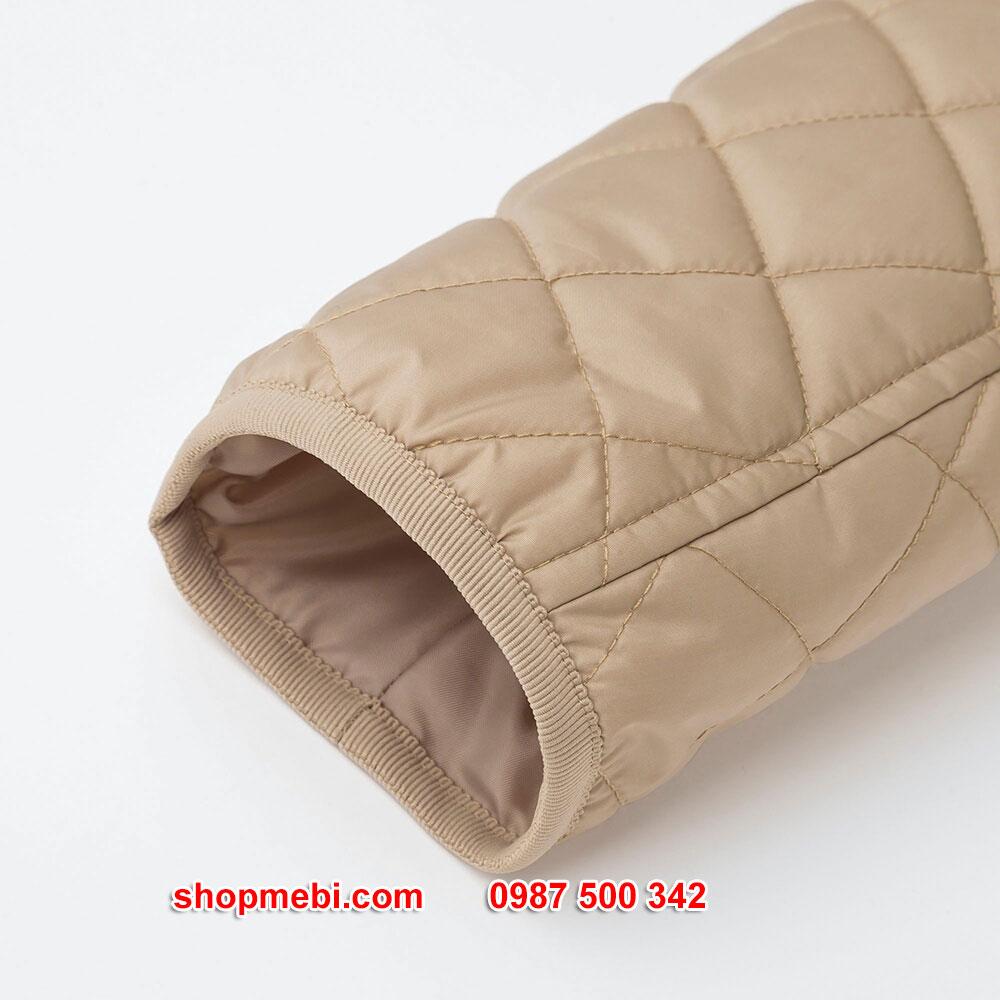 Tay Áo khoác trần trám lót lông cừu Uniqlo 2019 - 2020 mã 420213 có thun bo