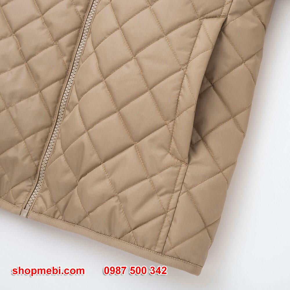Túi Áo khoác trần trám lót lông cừu Uniqlo 2019 - 2020 mã 420213