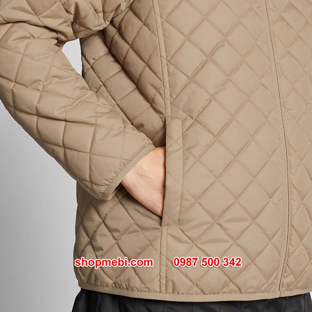 Đai Áo khoác trần trám lót lông cừu Uniqlo 2019 - 2020 mã 420213