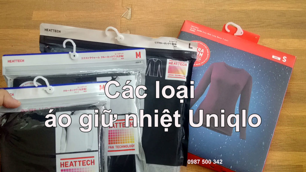 Các loại áo giữ nhiệt Heattech Uniqlo