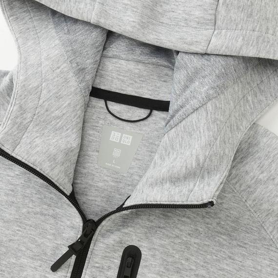Cổ áo khoác nỉ nam Uniqlo