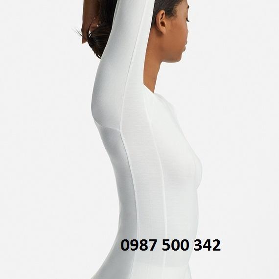 Áo giữ nhiệt nữ Uniqlo Alexander Wang cổ tròn 413381 mặc ôm dáng