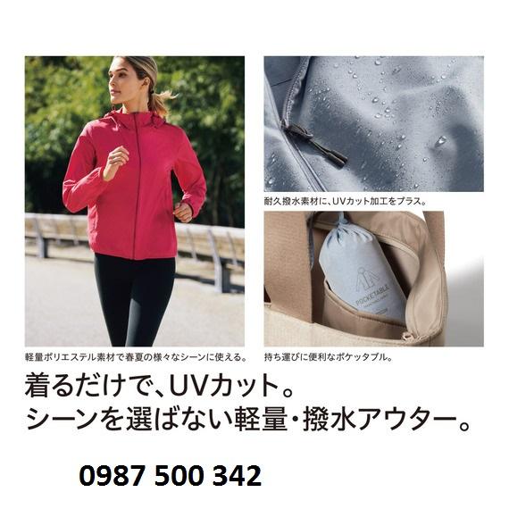 Áo gió nữ Uniqlo vô cùng tiện dụng