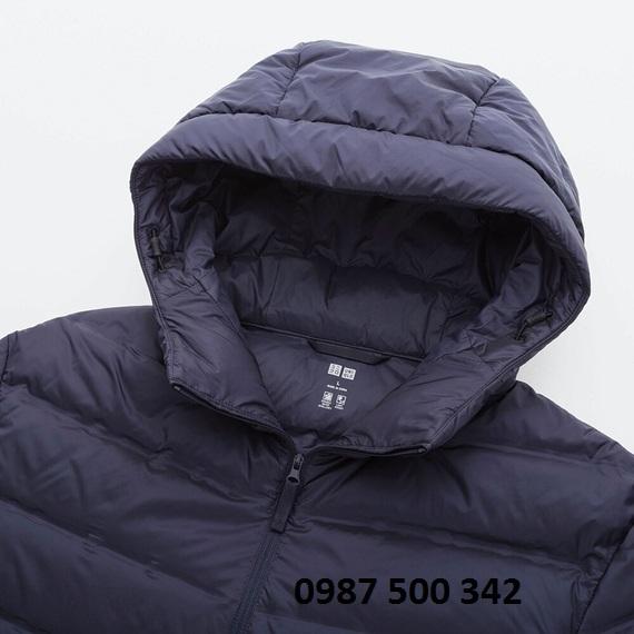Mũ áo lông vũ nam Uniqlo loại vải ép nhiệt