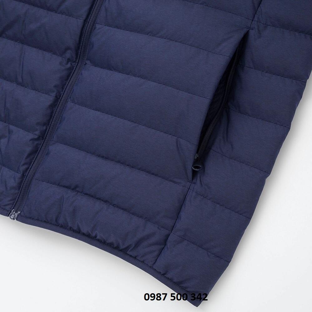 Túi áo lông vũ nam cổ trụ không mũ Uniqlo 2019 mã 419994