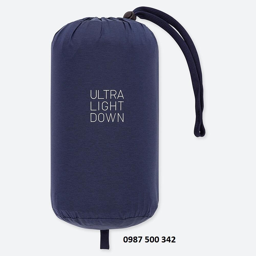 Túi đựng áo lông vũ nam cổ trụ không mũ Uniqlo 2019 mã 419994