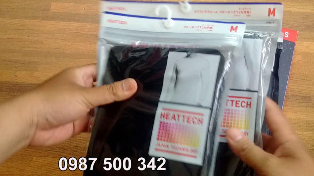 Túi đựng áo giữ nhiệt Heattech Extra Warm to và dày hơn túi đựng áo giữ nhiệt thường
