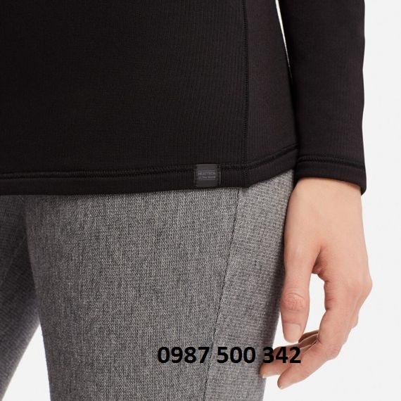 Vạt áo và tay áo giữ nhiệt nữ cổ tròn Heattech Ultra Warm