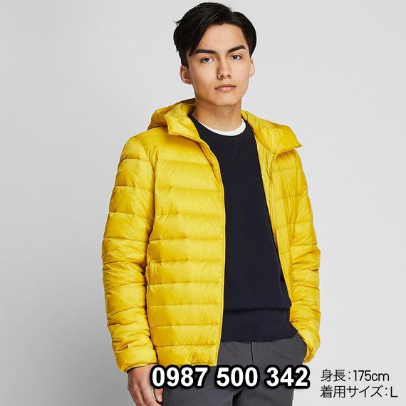 Áo lông vũ nam có mũ Uniqlo 2019 - 2020 mã 420314 màu vàng 46 YELLOW